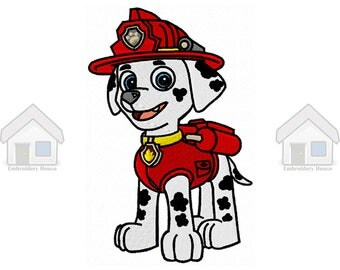 """Red Military Puppy Fully Embroidery Design 4 sizes """"Instant download"""""""