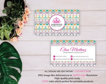 Paparazzi Business Card, Custom Paparazzi Accessories Business Card, Fast Free Personalization, Printable Business Card PP58