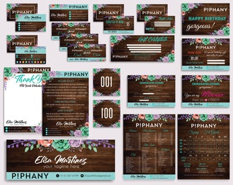 Piphany Marketing Kit, Piphany Bundle, Custom Piphany Package, PERSONALIZED Piphany Cards, Piphany Wooden Style, Digital files PP06