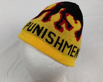 flame fire punishment beanie