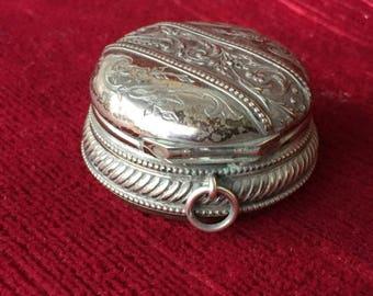 ancienne boite miniature et pendentif fin 19 ème-vecchia scatola e ciondolo in miniatura fine XIX-old miniature box & pendant late 19th