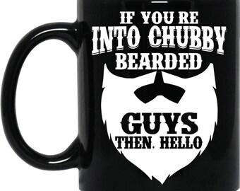 Chubby Beard Guy Black 11 oz. Mug