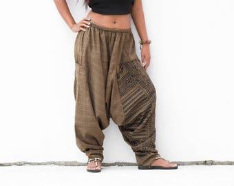 Harem Pants Men Women Yoga pants, Drop Crotch Pants, Hip Hop Pants, Boho Pants, Gypsy Pants, Baggy Pants