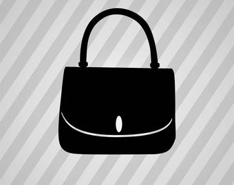Purse Silhouette Handbag - Svg Dxf Eps Silhouette Rld RDWorks Pdf Png AI Files Digital Cut Vector File Svg File Cricut Laser Cut