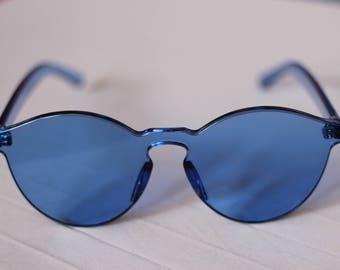 Vintage Tinted Sunglasses Blue