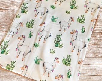 Llama Swaddle Blanket// Muslin Swaddle// Organic Swaddle Blanket