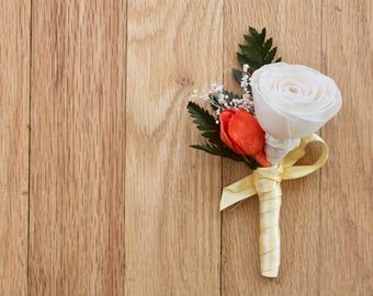 Sola Boutonniere, Tropical Wedding, Wedding Boutonniere, Wedding Corsage, Beach Wedding, Boutonniere, Boutenniere, Sola Corsage, Sola
