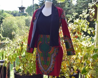 Women's suit,Business's suit, African print's suit, Ankara print suit, handmade women's suit.