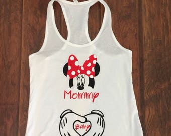 Maternity Mickey and Baby Tank or Tee