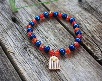 Superman Charm Stretch Bracelet