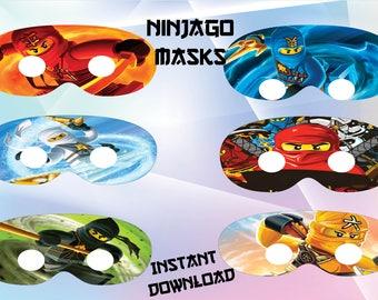 Ninjago eyes masks,  Ninjago masks, Ninjago eyes party, Ninjago eyes birthday - Instant Download