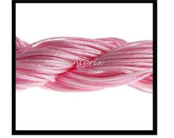 X 5 meters of thread nylon macramé, pink shamballa