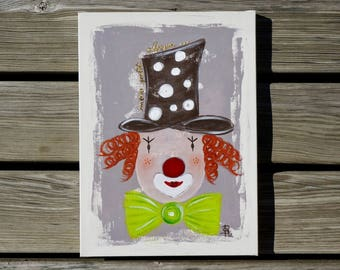 Colorful personalized unique clown painting
