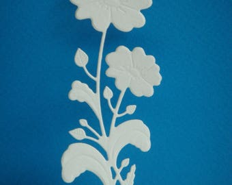 Cut flower for creating white drawing paper
