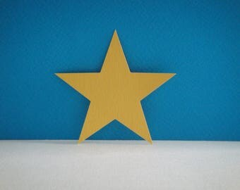 Custom cut yellow star 5 branches