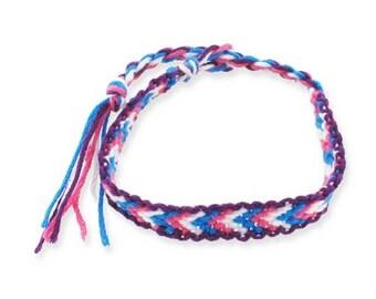 1 blue, pink and white friendship bracelet