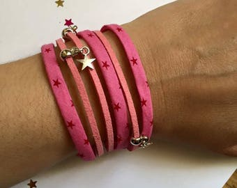 Jewelry Ribbon cuff Bracelets and charms of Rose