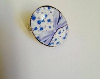 """Beautiful ring adjustable silver Metal Vintage """"Blueberries"""""""