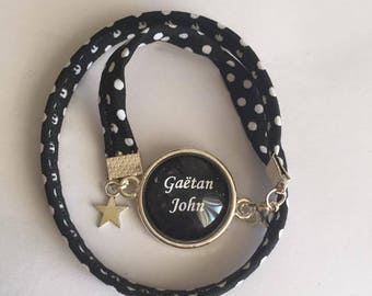 """Jewelry Bracelets Support Cabochon & """"Custom"""" fabric charms"""