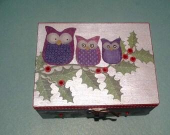 Box Tote all owls theme