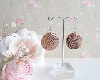 Palm leaves earrings