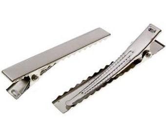 set of 10 blank alligator hair clips hair craft supplies