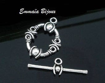 Silver Toggle clasp 13 x 17 mm