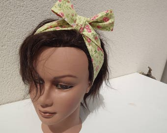 Headbands vintage fabric flower