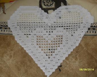 handmade crocheted heart