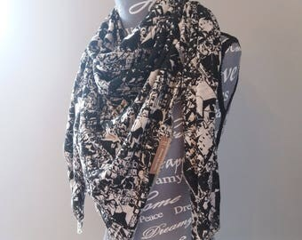 Scarf/shawl scarf modern abstract patterns