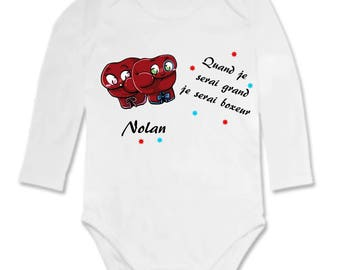 Bodysuit when I grow, I will be personalized with name