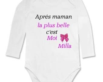 Bodysuit after MOM more... personalized with name