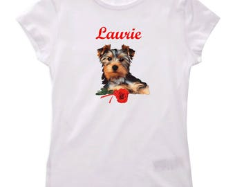 T-shirt Yorkshire girl personalized with name