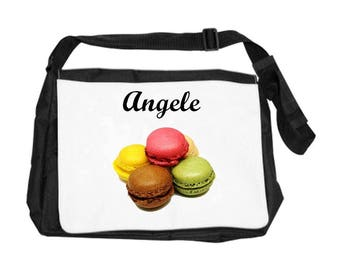 Macarons bag personalized with name