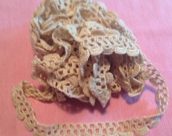 Vintage crochet lace, quite thick, cotton