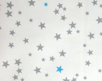 White stars summer gray and turquoise-6-36 months