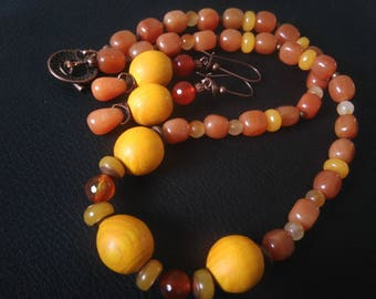 Necklace and earrings: sunny Nature