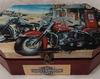 Vintage Harley Davidson box