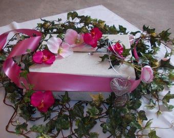 Fuchsia wedding urn; pink creation unique