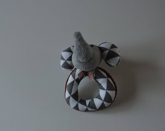 Toy rattle elephant of birth
