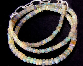 Welo Fire Opal natural Ethiopian 2.5 Multi-Feux wheels beads 17 mm to 5 mm to ∅ - hole 0.5 mm ∅