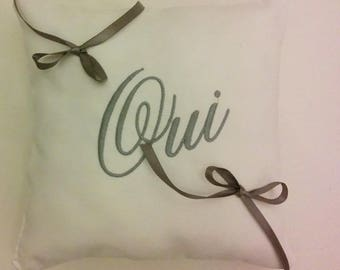 Ring bearer pillow personalized with names and Yes any color