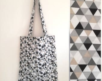 """""""Isabella"""" printed graphic hand stitched Tote"""