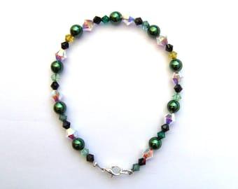 inspired swarovski pearl bracelet