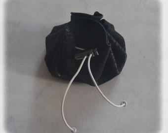 Leather purse black lizard - wallet
