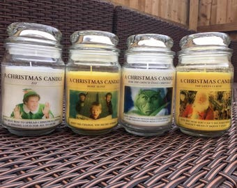 A Christmas Candle *Large* - Various Scents & Characters/ Films Available