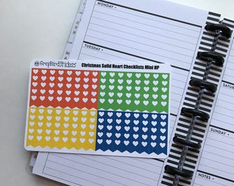Solid Christmas Heart Checklists for Mini Happy Planners