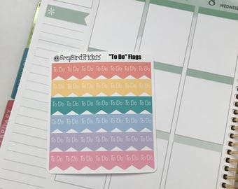 To-Do Page Flags for the Erin Condren Life Planners, Classic Happy Planner, Mini Happy Planner and More!