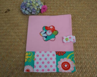 Pink floral patchwork health book