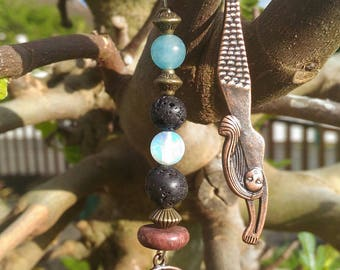 Bookmark Mermaid and her natural stone beads